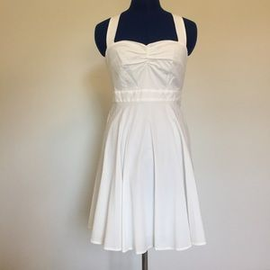Moda International White Cross Strap Dress Size 2